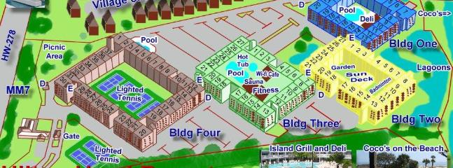 Layout of Hilton Head Resort Buildings