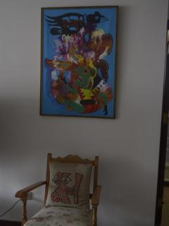 An original abstract painting of Bolivia.