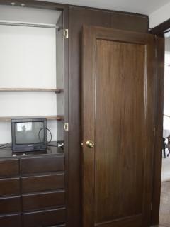 The bedroom door.