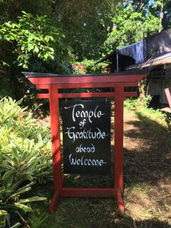 Guests are welcomed to The Temple of Gratitude (on site)