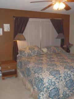 Pillow top king bed in master bedroom
