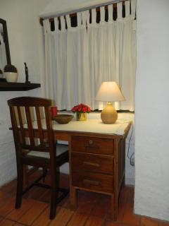 writing desk in downstairs bedroom