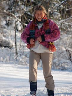 Snow shoe action!