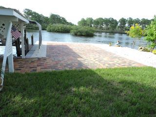 Pavers brick at back next to Oyster Creek