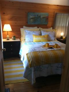 Cottage Bedroom with brand new Queen sized Pillow Top bed