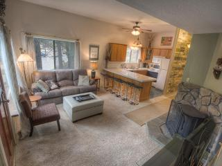 Living/Kitchen w/wood burning stove, tv/dvd