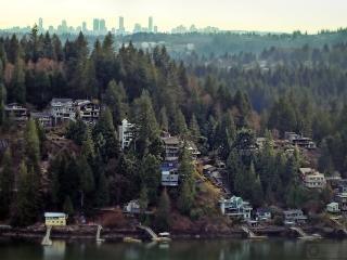 View of Deep Cove with Vancouver behind