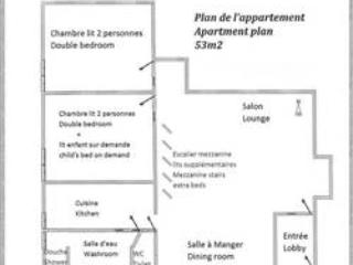 Floor plan, plan de l'appartement