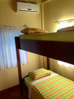 Bunk beds in one of the bunk rooms (below the main house)