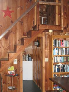 LR stairs leading to Twin bedroom