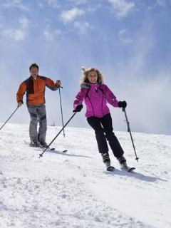 Snow skiing and ice skating