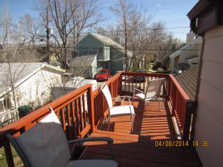 Upstairs deck get lots of sunshine