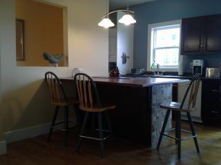 Dine in kitchen with hand made counter tops