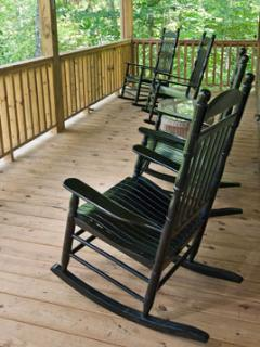 Relax in a Rocker as you listen to the Rushing Streams from the Large Covered Porch.