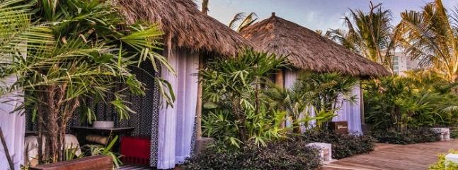 Spatium's outdoor massage rooms