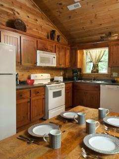 Fully Furnished, Modern Kitchen with new Appliances and plenty of space to work. Upscale Extras.