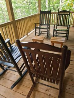 Relax in a Rocker on the Spacious Covered Porch as you enjoy the sound of nearby splashing streams.