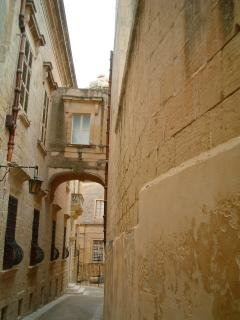 Mdina balcony and street