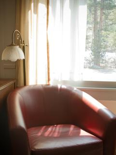A quiet spot to read by the window