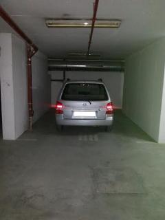 Garage inside the building