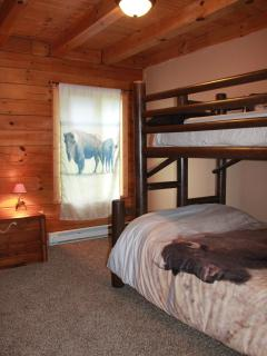 Kids will love our buffalo rooms, 2 rooms have a twin over full bunk bed.