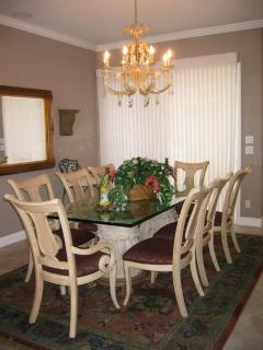 Dining area--seats 8