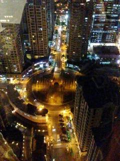 View of Burgos Circle at night