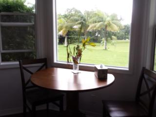 dining area has picture window for optimal viewing of flora and fauna