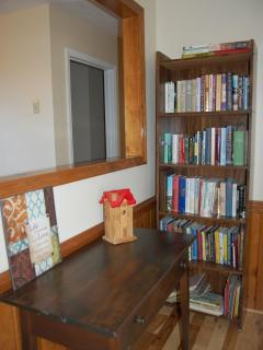 Entry foyer w/ reading materials
