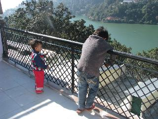 Midtown location and overlooking Nainital Lake