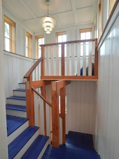Top of the stair tower with 4th floor lookout / reading nook.