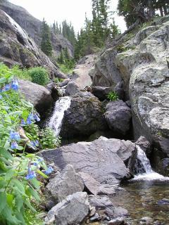 Waterfall at top of Bridal Veil basin