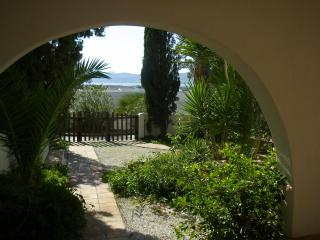 the garden and sea views