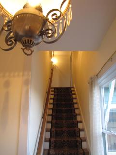 Stairwell - 3 BR upstairs and one BR downstairs (Garden Room)