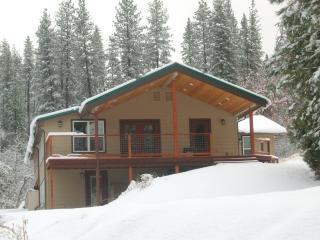 lodge in winter - a rare snow!