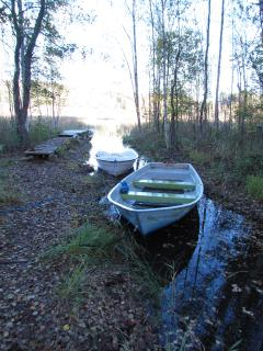 The boats in the autumn