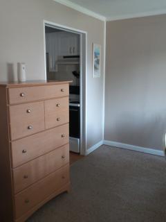 Kitchen area - Dresser is for extra storage