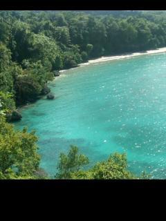 View of the closest beach. Rio Nuevo beach