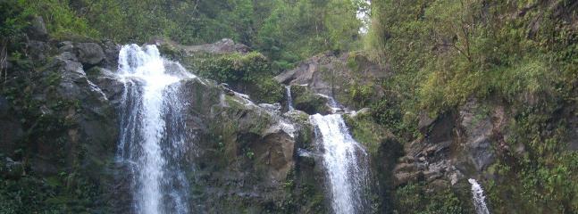 Waterfalls on the way to Hana.