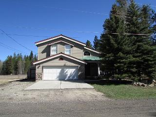 Lodge style home views large meadow and Private beach access, McCall