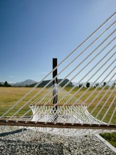 Relax with a book in the hammocks