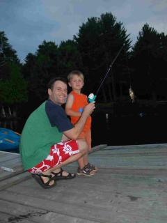 Clyffe House: Catching fish off the dock