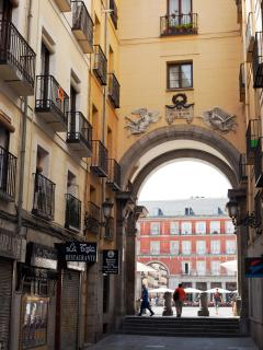 Loft street. Yes, you are that close to Plaza Mayor.