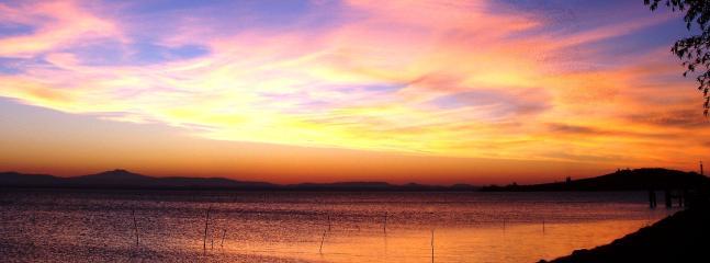 Spectacular Sunset over Lake Trasimeno