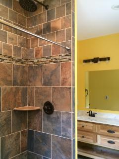 Master bathroom has HEATED FLOORS and rainhead shower.