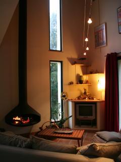 Enjoy a cozy winter getaway by the fireside
