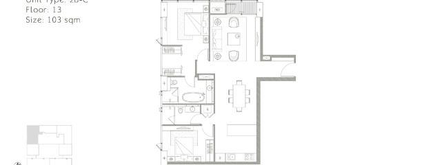 condo floorplan