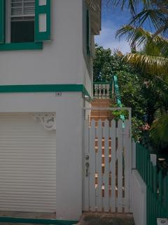 Private Gated Entry into the Apartment