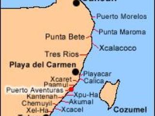 Mappa di Puerto Aventuras