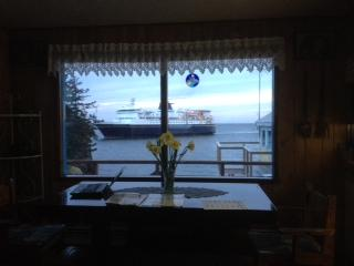 View of the Alaska Marine Highway ferry arriving